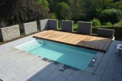 rovné zastřešení bazénu