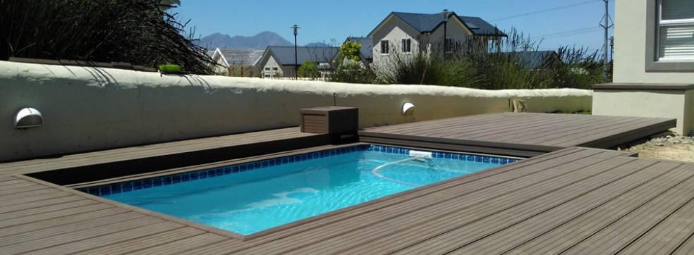 Rovné zastřešení bazénů